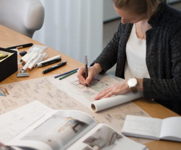 Innenarchitektur und Planung